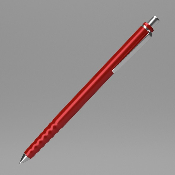 Red Pen - 3DOcean Item for Sale