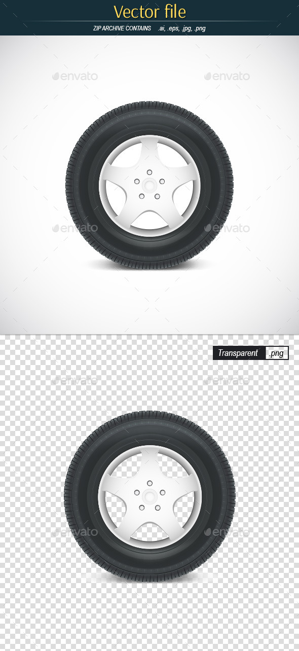 Car Tire - Man-made Objects Objects