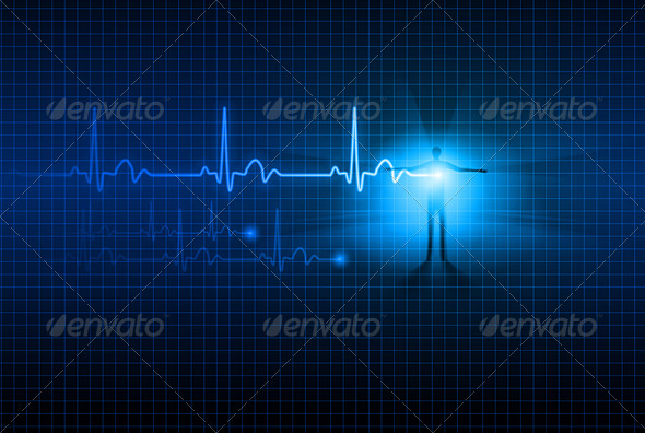 Abstract ECG - Health/Medicine Conceptual