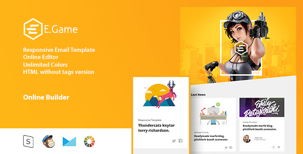 E.Game - Responsive Email Template + Online Editor