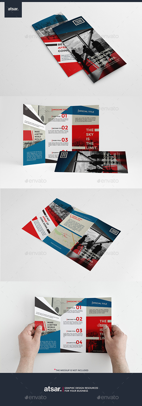 Stylish Modern Trifold - Corporate Brochures