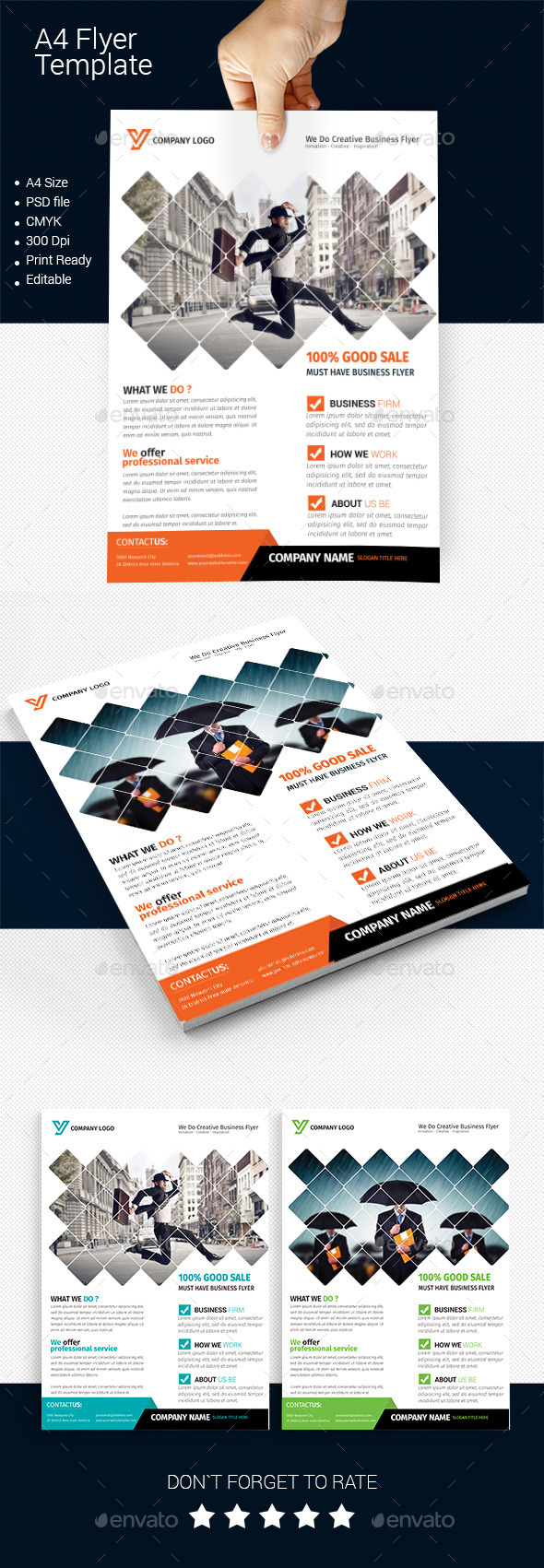 A4 Business Flyer Template 01   - Corporate Flyers