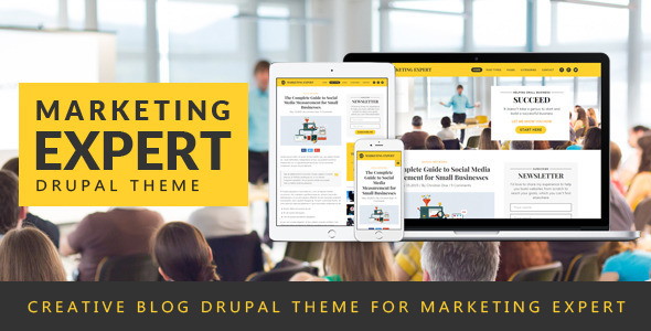 Expert – Blog Drupal Theme for Marketer