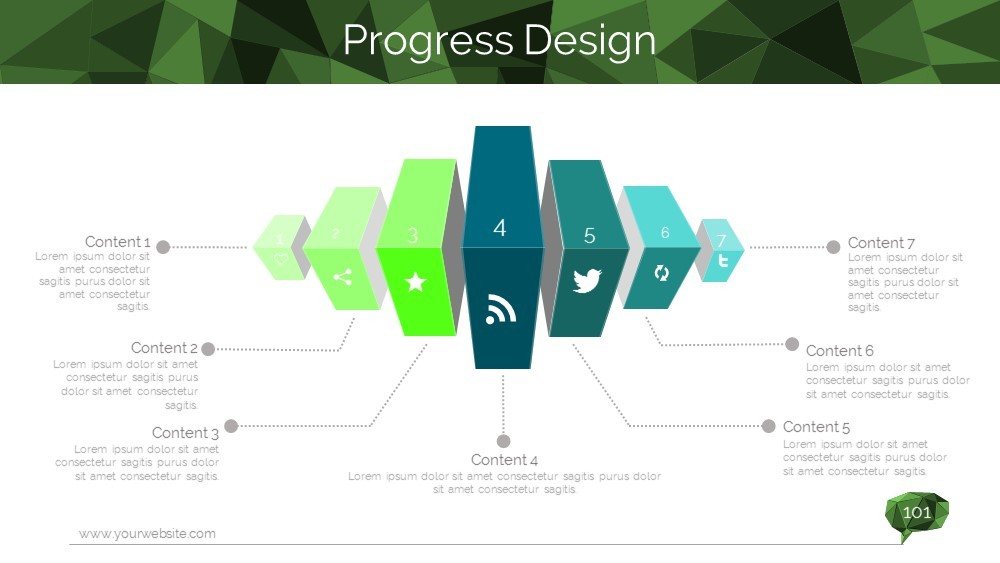 lowpoly business powerpoint templatemiguoslide   graphicriver, Low Poly Business Presentation Template, Presentation templates