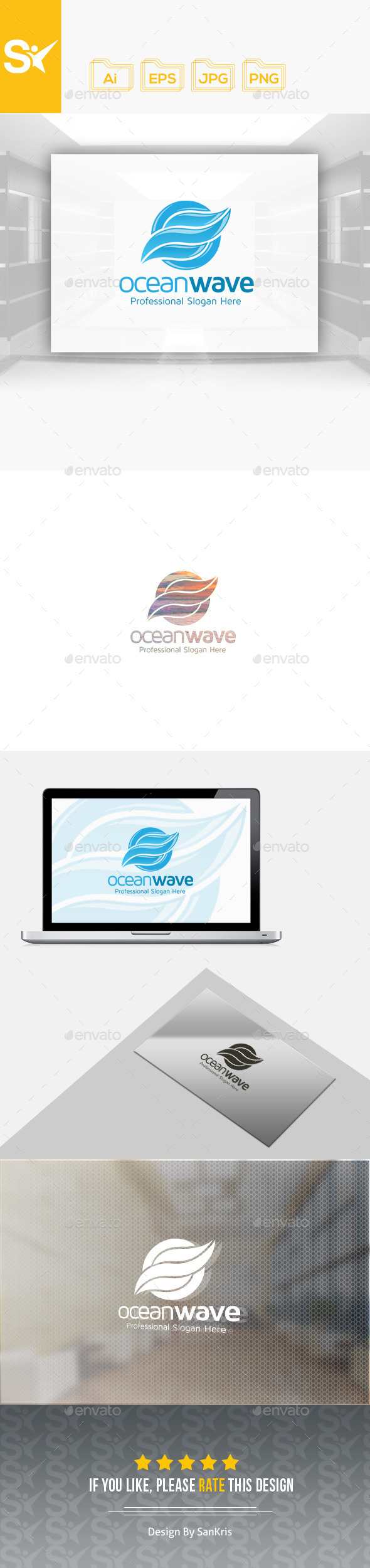 Ocean Wave Logo - Nature Logo Templates