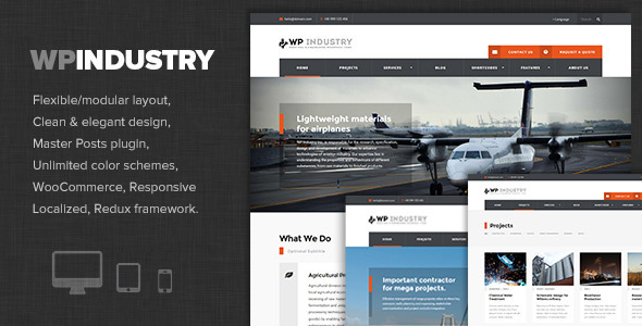 WP Industry - Industrial & Engineering WP theme - Business Corporate