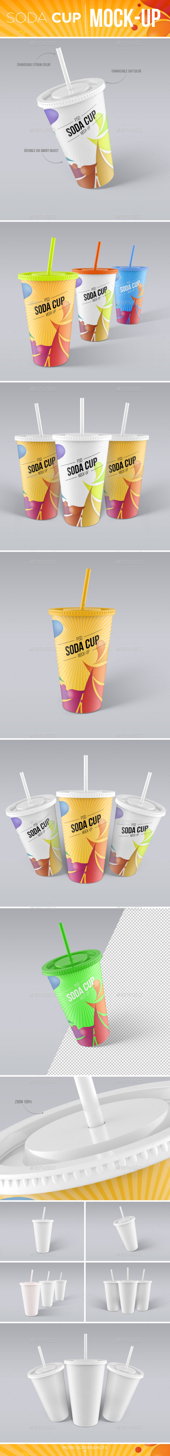 Soda Cup Mock-Up - Food and Drink Packaging