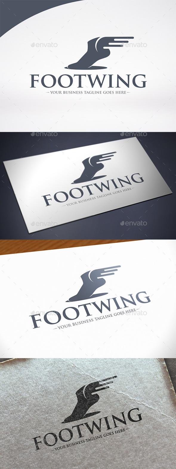 Foot Wings Logo Template - Humans Logo Templates