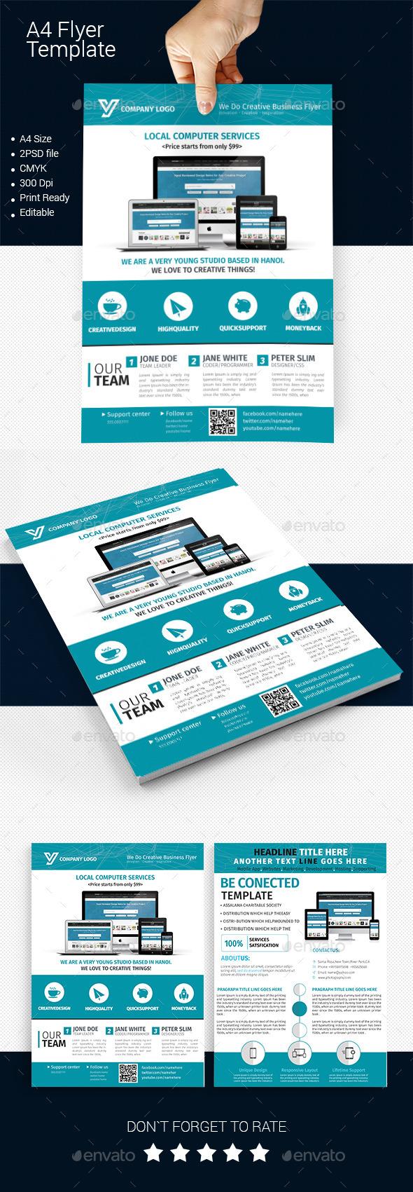 A4 Business Flyer Template 02