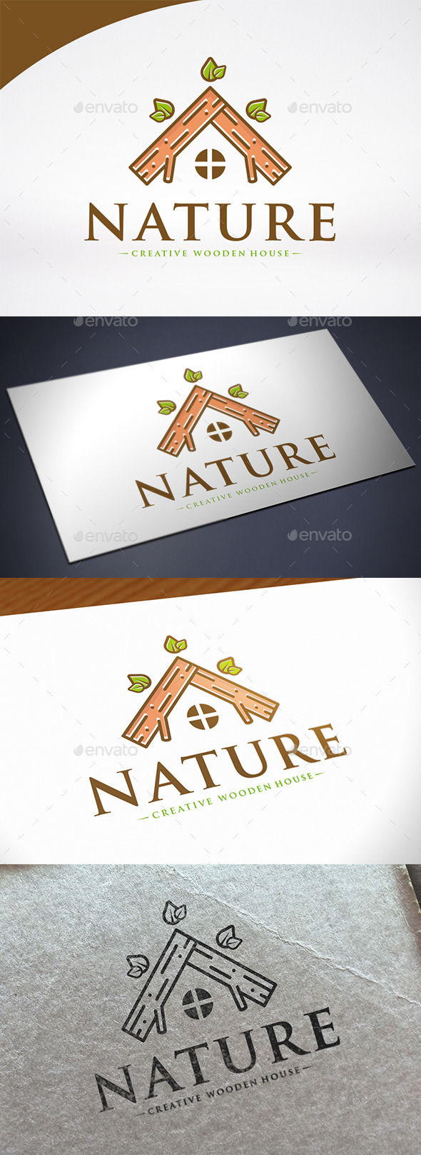 Wooden House Logo Template - Nature Logo Templates