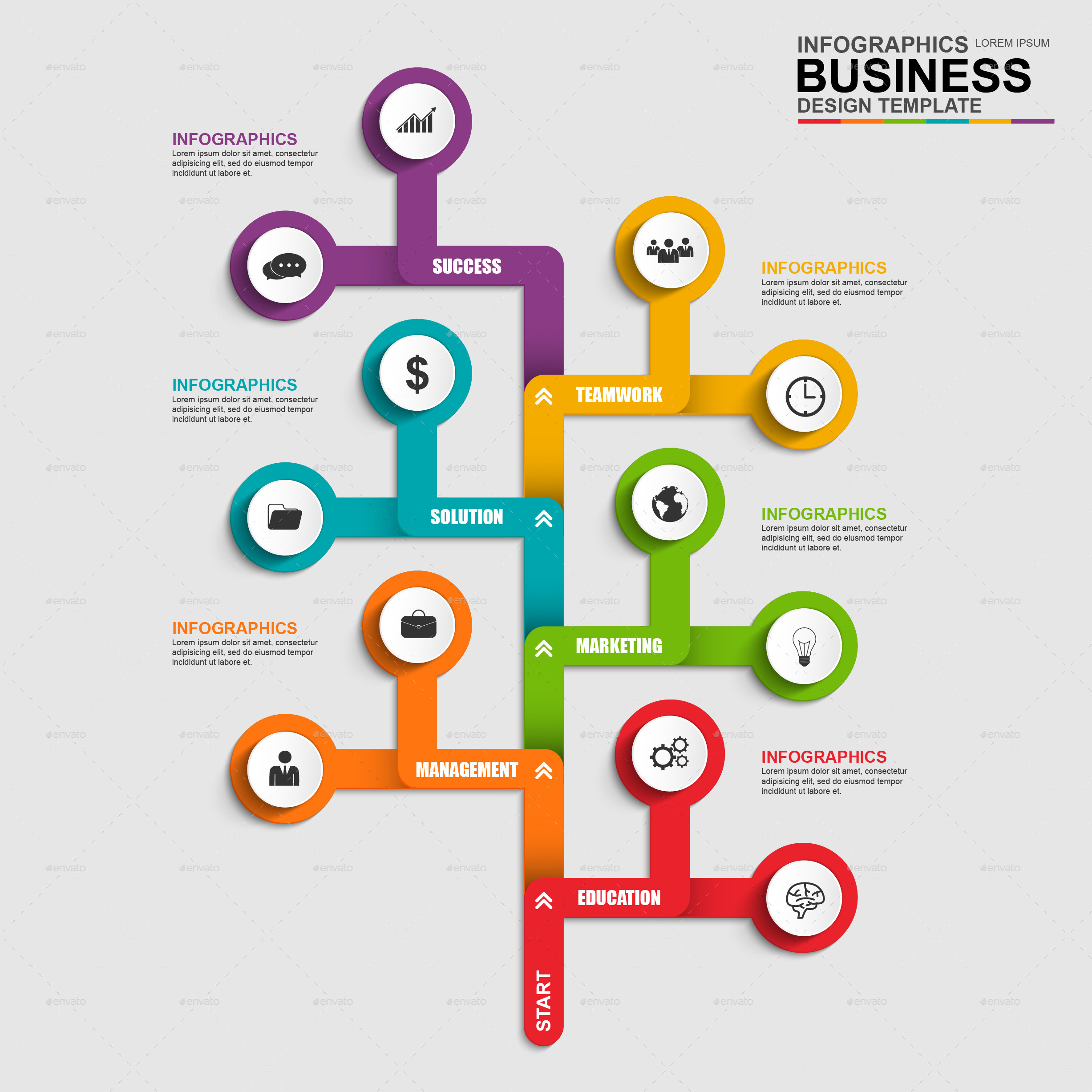 Abstract 3d business tree timeline infographic by alexdndz for Product design business