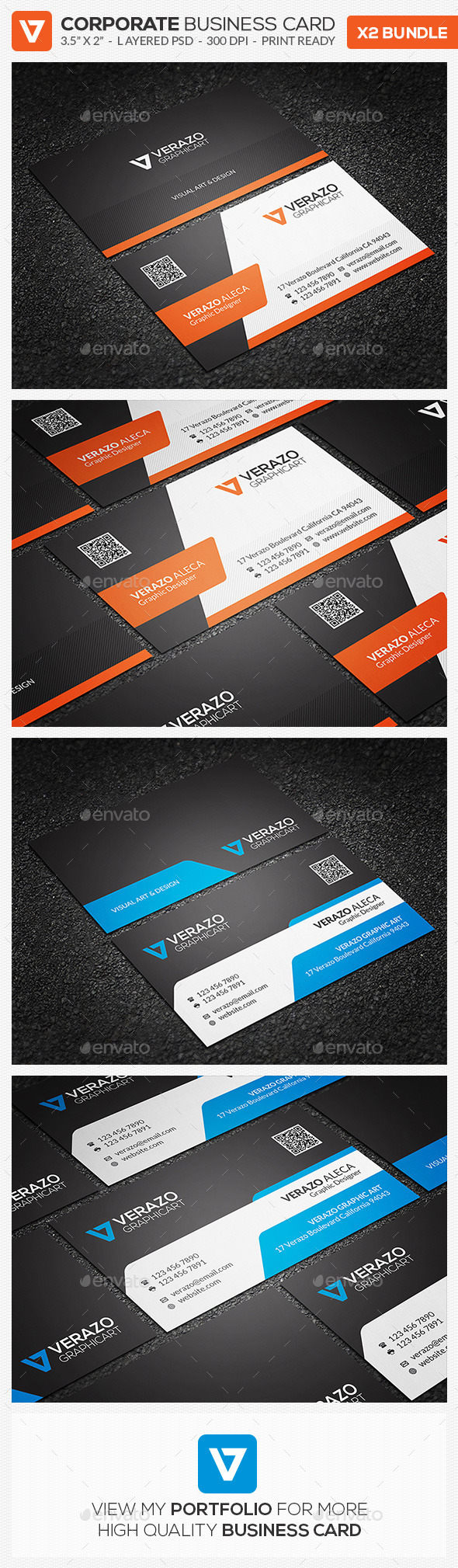 Business Card Bundle 20 - Corporate Business Cards