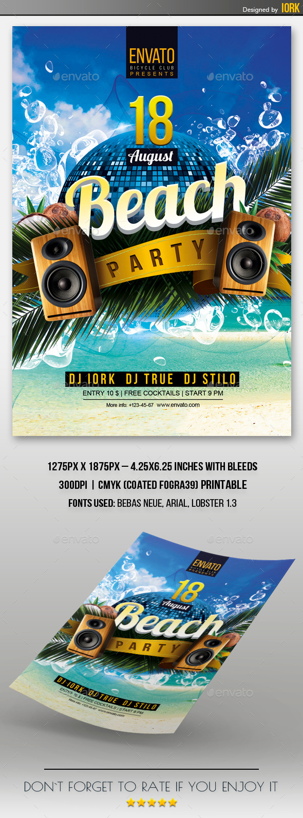 Beach Party Flyer - Events Flyers