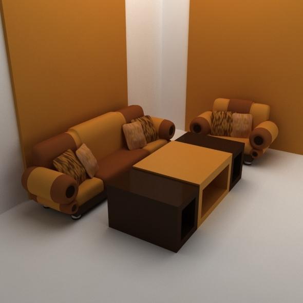 classic sofa set - 3DOcean Item for Sale