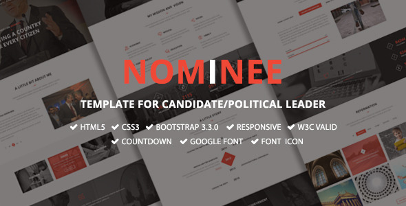 Image of Nominee - Template for Candidate/Political Leader