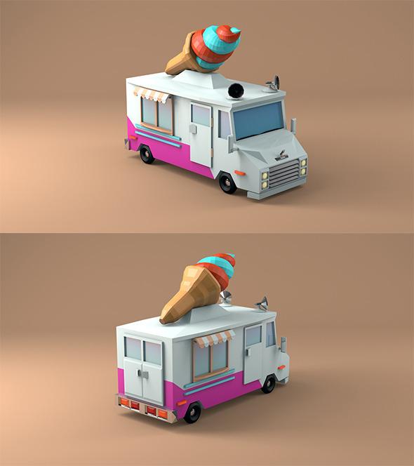 Ice Cream Car - 3DOcean Item for Sale