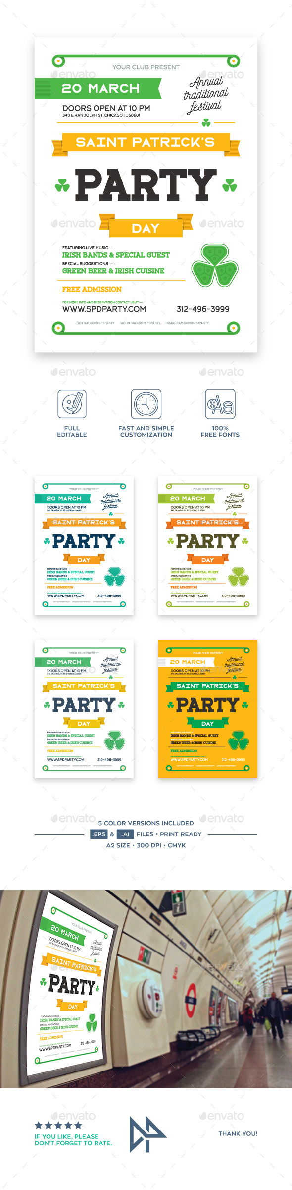 St. Patrick's Party Poster, vol.2 - Holidays Events