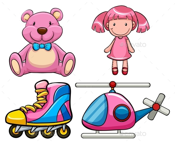 Pink Toys - People Characters