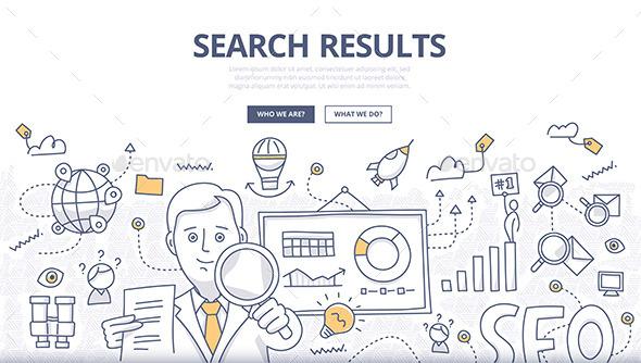 Online Search Doodle Concept - Web Technology