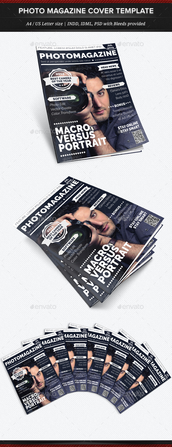 Photo Magazine - Multipurpose Magazine Cover Templ - Magazines Print Templates