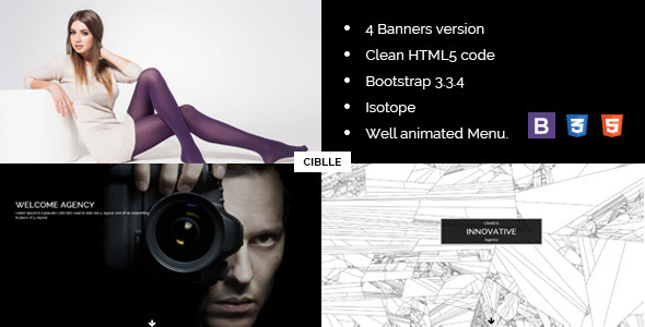 Image of Cibelli Responsive HTML Landing Page Template