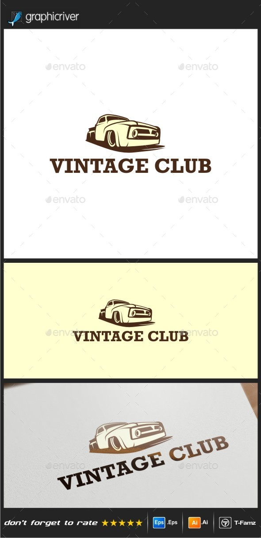 Vintage Club  - Objects Logo Templates