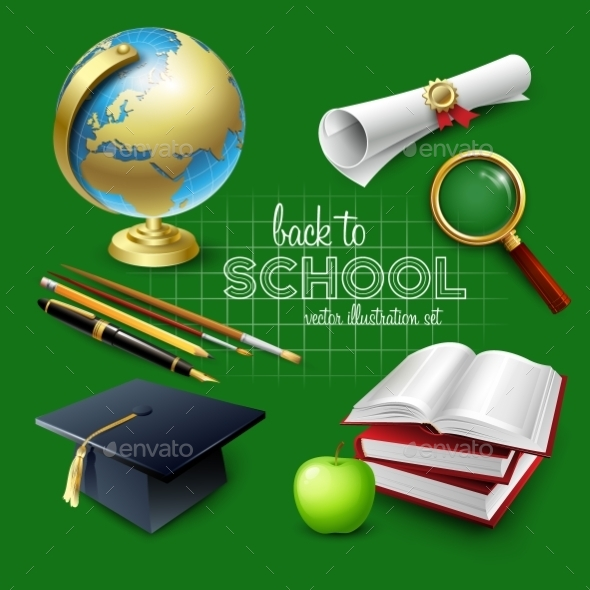 Welcome Back to School - Backgrounds Decorative