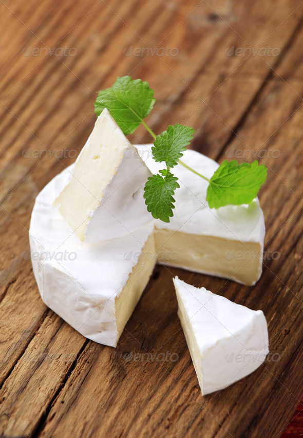 White rind cheese - Stock Photo - Images