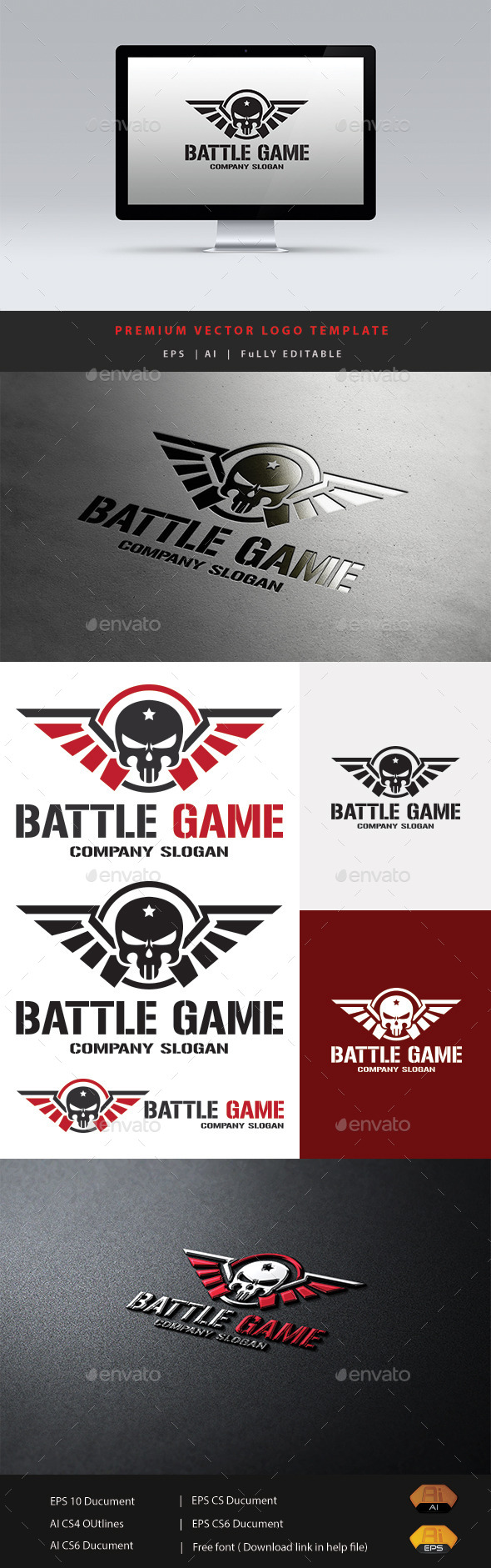 Battle Game - Humans Logo Templates