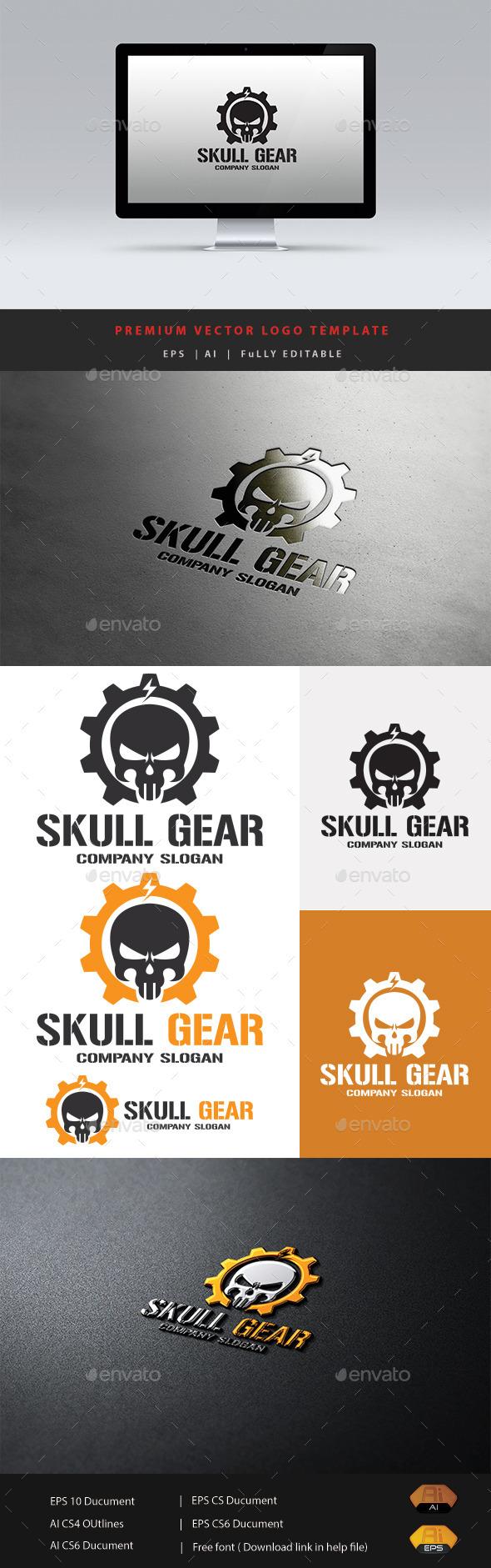 Skull Gear - Humans Logo Templates