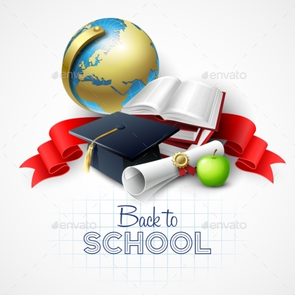 Welcome Back To School. Vector Illustration - Backgrounds Decorative