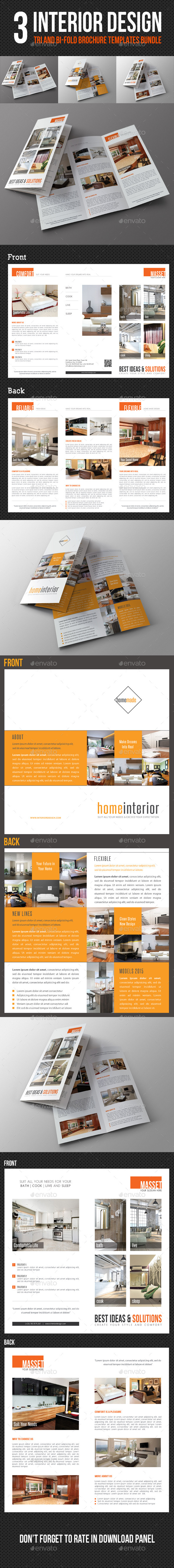 3 in 1 Interior Design Brochure Bundle - Corporate Brochures