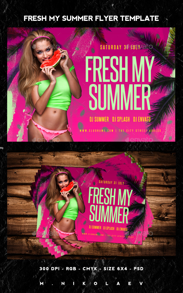 Fresh My Summer Flyer - Clubs & Parties Events