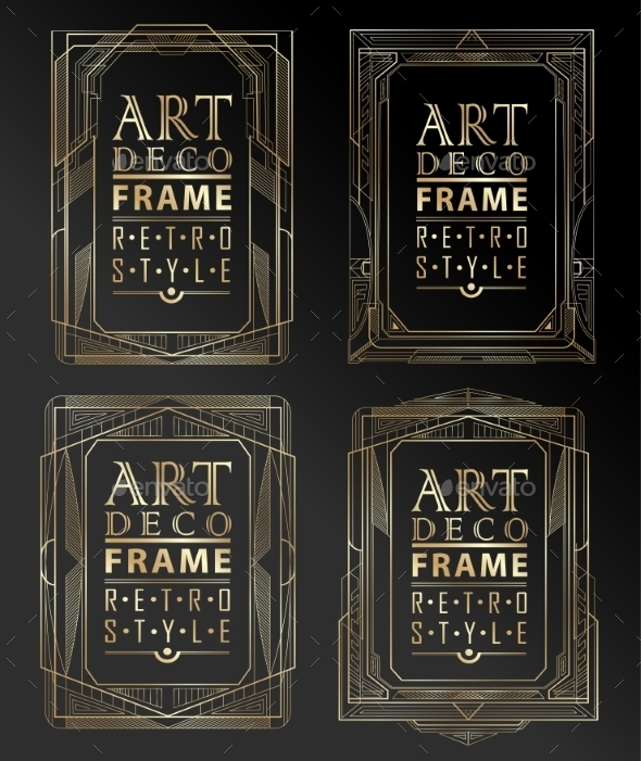 Art Deco Geometric Frames - Borders Decorative