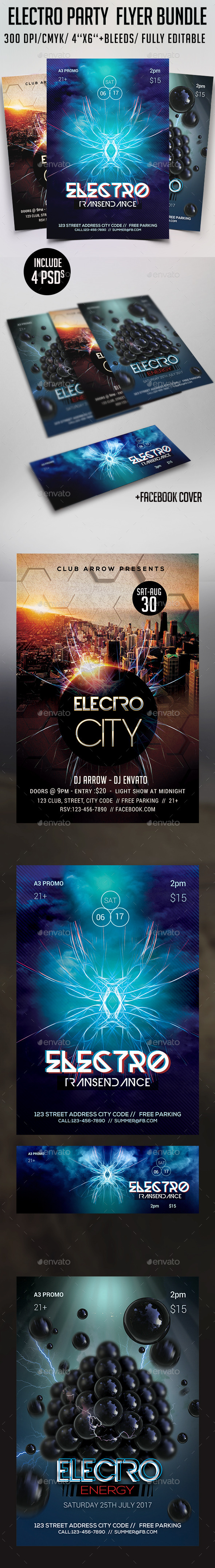 Electro Flyer Bundle - Events Flyers
