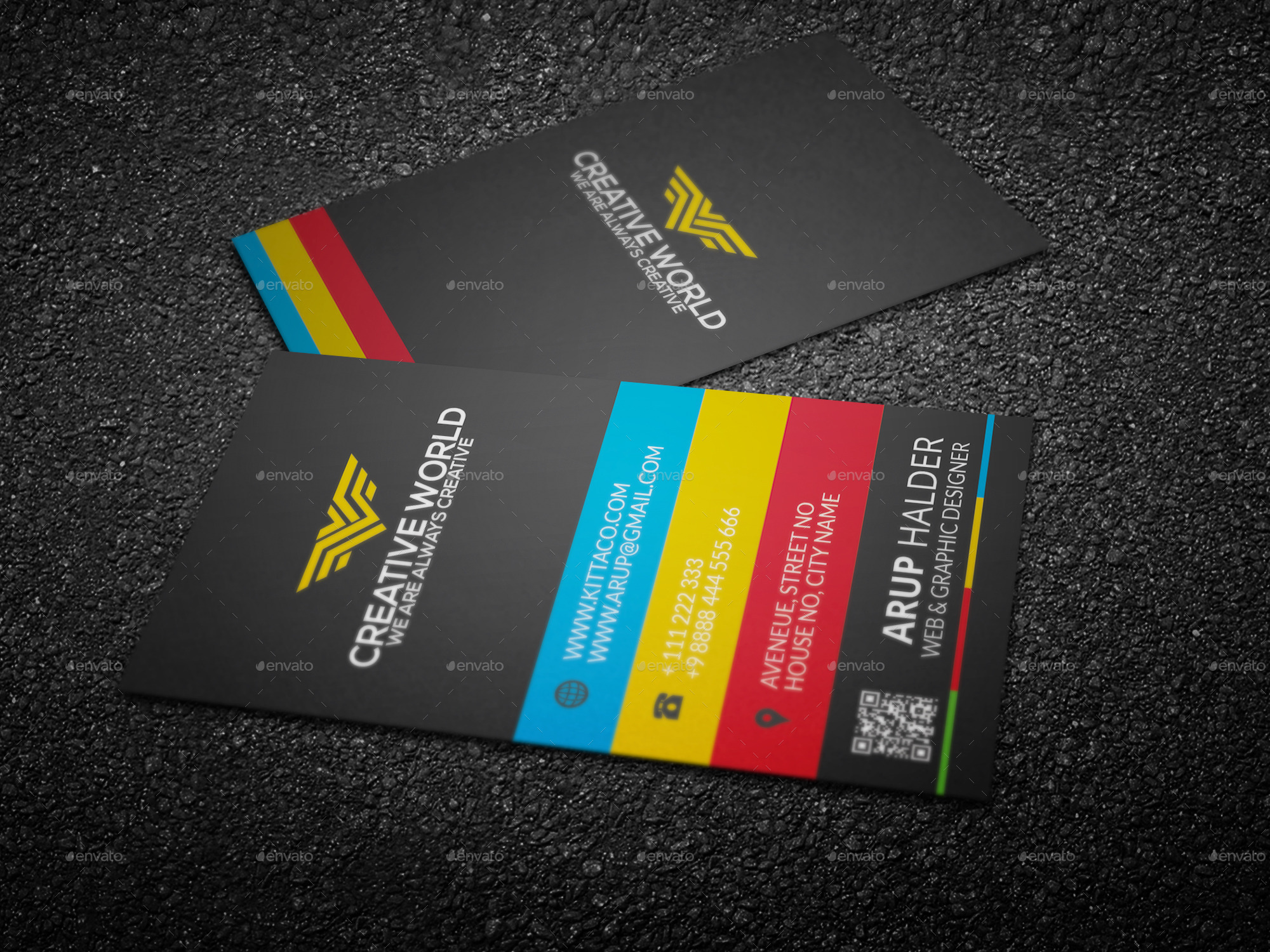 Colorful business card template by kittaco graphicriver colorful business card template business cards print templates bcmockup1g bcmockup2g bcmockup3g colourmoves