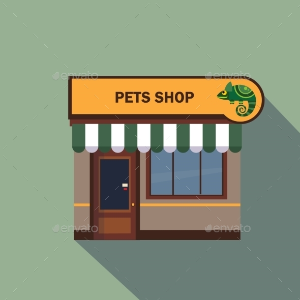 Restaurants and Shops Facade Storefront - Miscellaneous Vectors