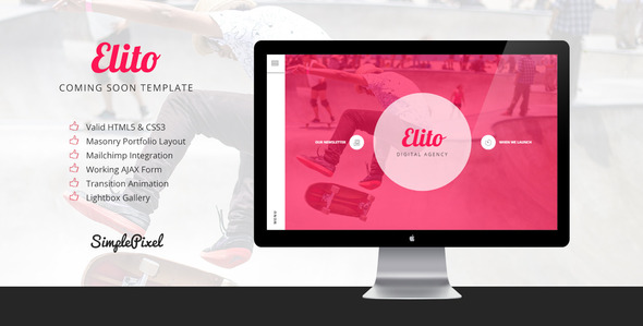 Elito – Coming Soon Template