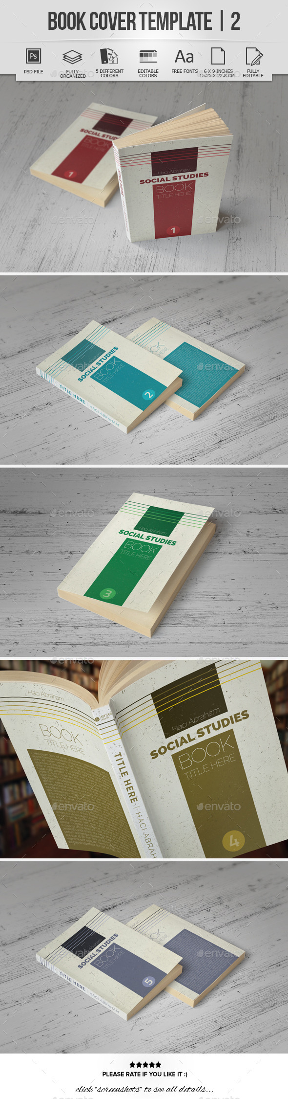 Book Cover Template | 2 - Miscellaneous Print Templates