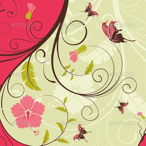 Flower Frame - Flourishes / Swirls Decorative