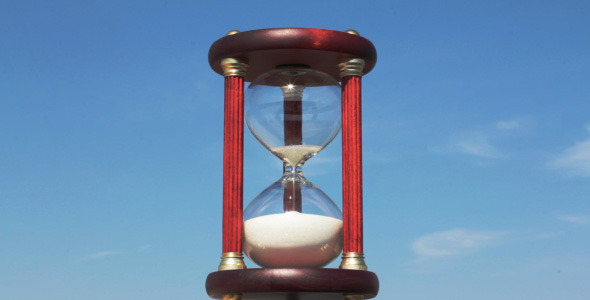 Hourglass Against The Blue Sky 1