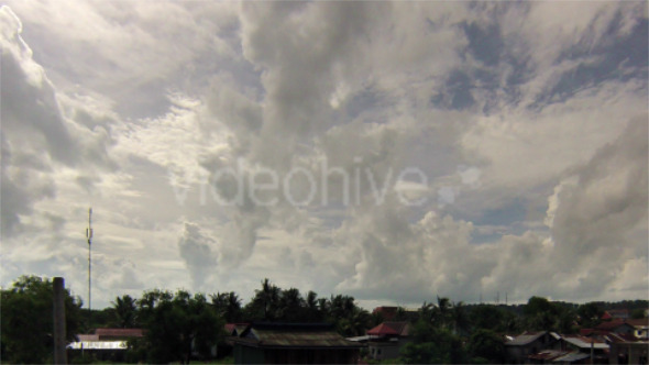Time Lapse Restless Movement Of Cambodian Clouds