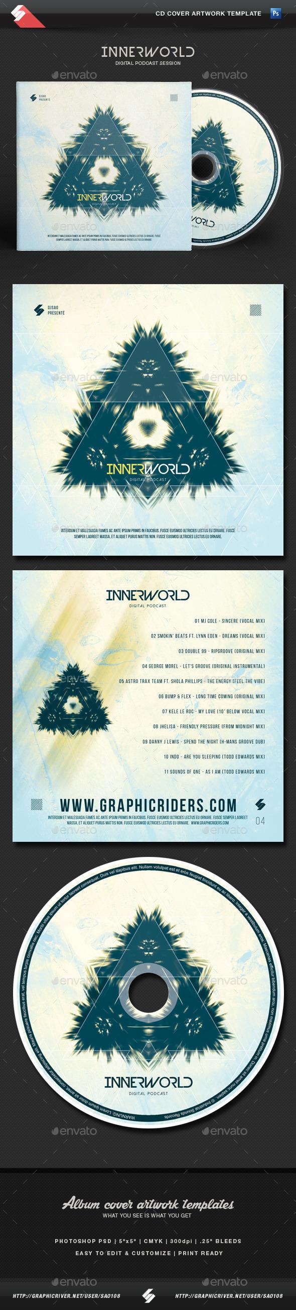 Inner World - CD Cover Artwork Template - CD & DVD Artwork Print Templates