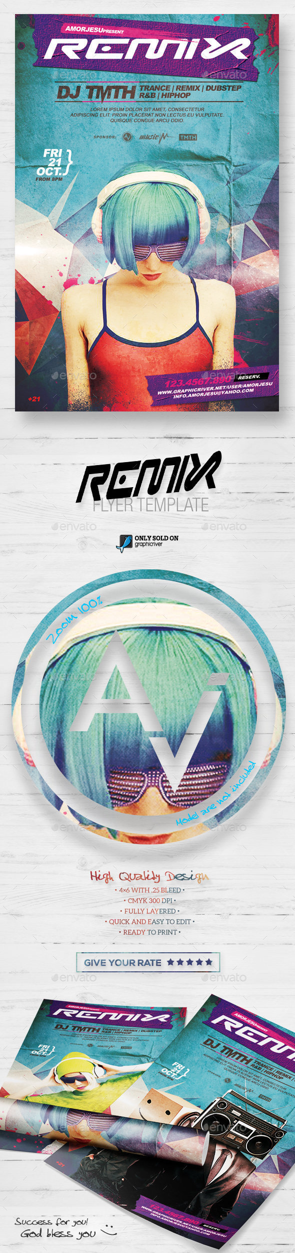 Remix Flyer Template - Clubs & Parties Events