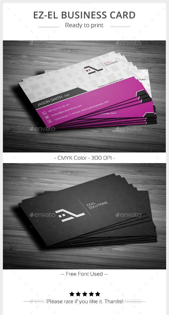 Ez-el  Business Card - Corporate Business Cards