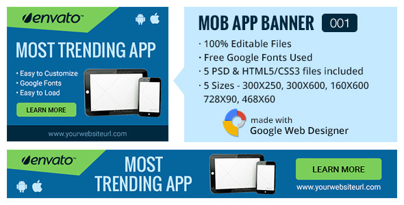Multipurpose Mobile App Banner 001 - CodeCanyon Item for Sale