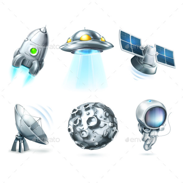 Space Icons - Man-made Objects Objects