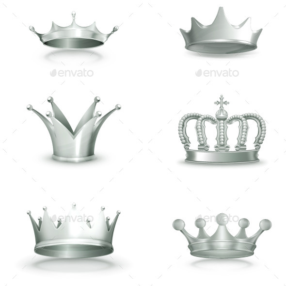 Silver Crowns Icons