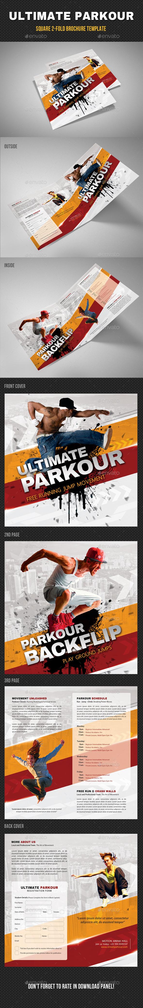 Ultimate Parkour Square 2-Fold Brochure - Informational Brochures