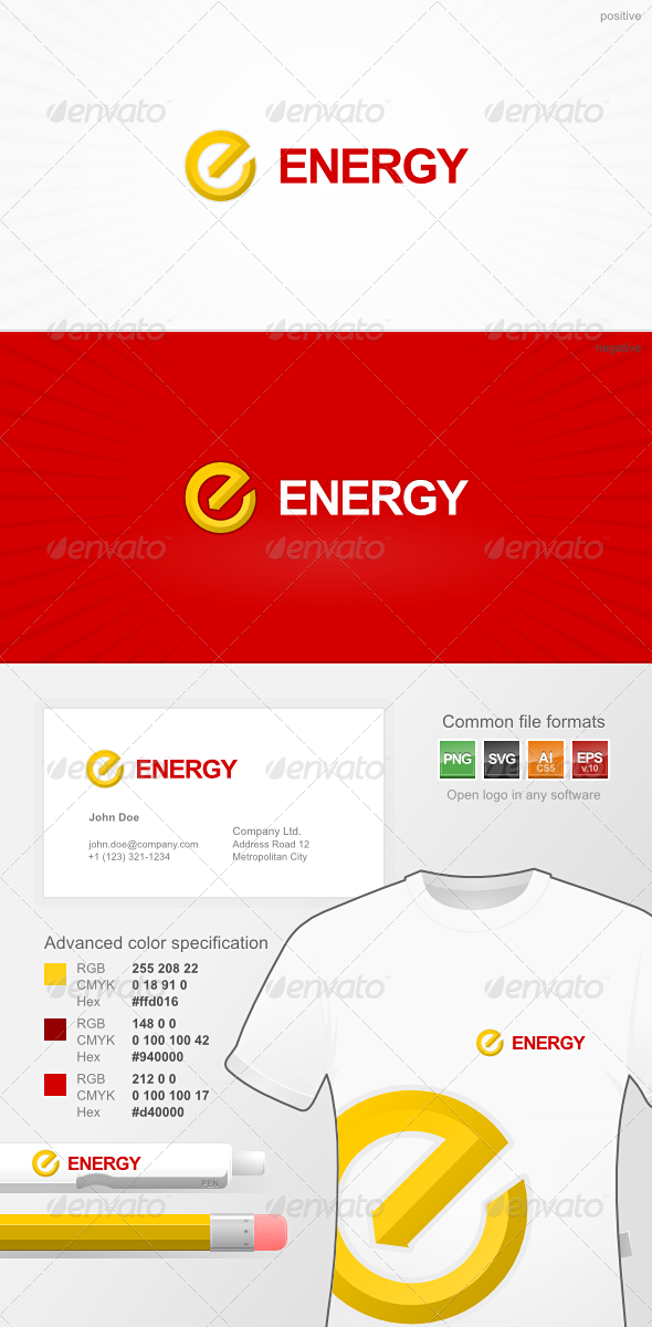 Energetic Company Logo - Letters Logo Templates